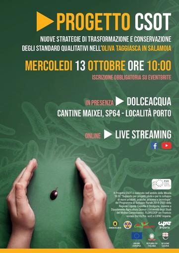 Progetto CSOT: il 13 ottobre la presentazione dei risultati in presenza a Dolceacqua e online su Facebook e Youtube