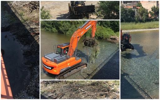 Ventimiglia: lavori sul fiume Roya, ditta al lavoro per la sicurezza del corso d'acqua e dei cittadini (Foto)