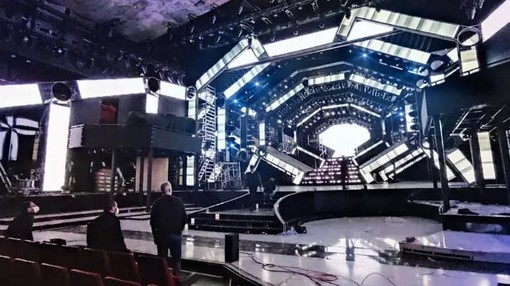 Il palco del 71° Festival di Sanremo