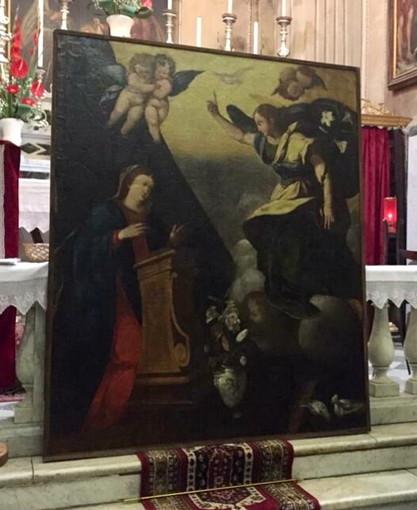 Valle del Maro: il quadro dell'Annunciazione dell'Oratorio di Conio torna ad essere ammirato dai fedeli anche grazie al FAI