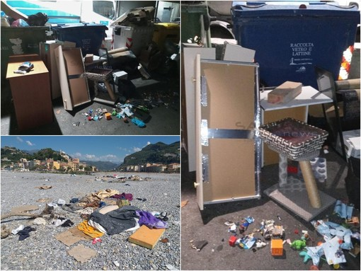 I rifiuti abbandonati in via Tenda