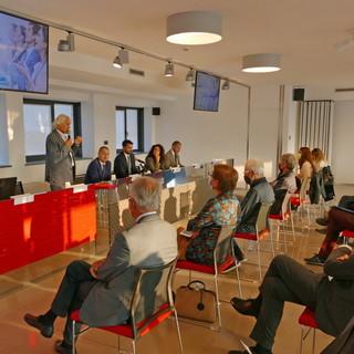 L'intervento introduttivo del presidente della Banca di Caraglio, Livio Tomatis