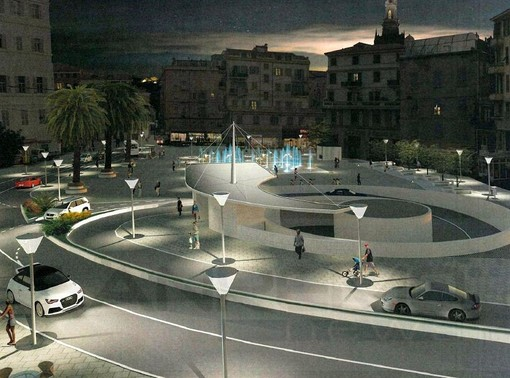 Il rendering del progetto di piazza Eroi Sanremesi