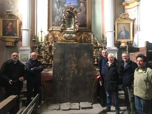 Molini di Triora: Ancos Confartigianato finanzia il restauro del polittico 'Sacra famiglia con Sant'Anna e San Giovannino' del 16° secolo