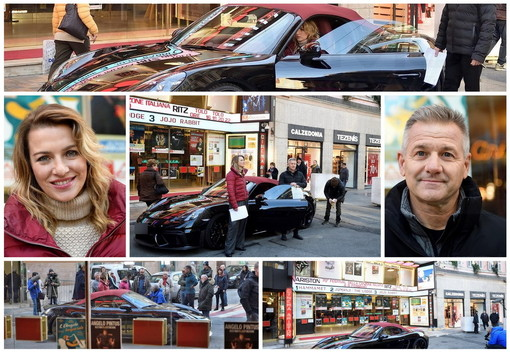 Sanremo: clima sempre più festivaliero in città, l'ex F1 Nicola Larini all'Ariston per 'Easy Driver' (Foto)