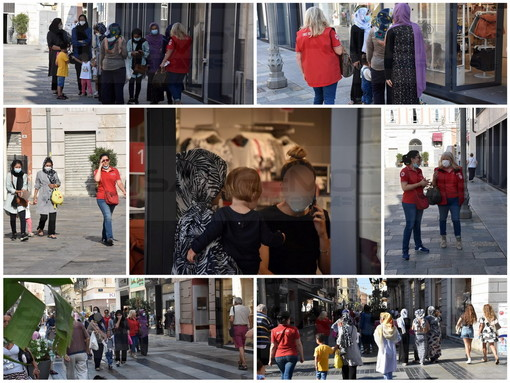 Sanremo: in attesa di partire per le destinazioni previste, grazie alla Cri giro per la città per alcuni rifugiati afghani (Foto)