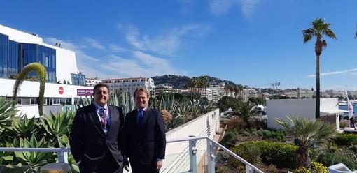 Cannes: oggi il Presidente della Regione Giovanni Toti era al Mipim nella città della Croisette (Foto)