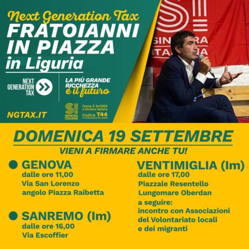 Domenica l'on. Nicola Fratoianni ai banchetti di Sinistra Italiana a Sanremo e Ventimiglia