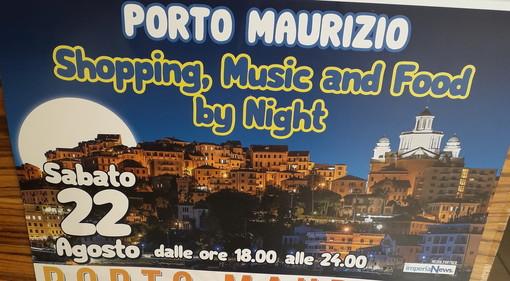 'Shopping, music and food by night': aspettando la 'Notte Bianca 2021', il 22 una serata di festa a Porto Maurizio