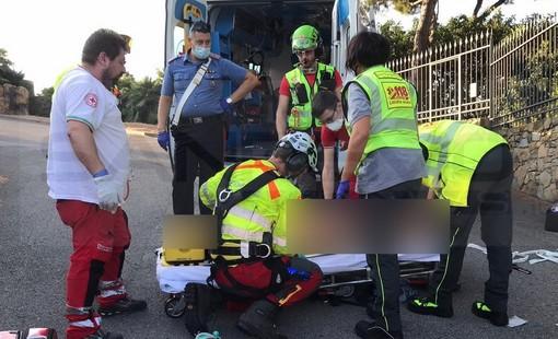 Bordighera: donna trovata a terra in via Selva Dolce, era incosciente e con un grave trauma cranico (Foto)