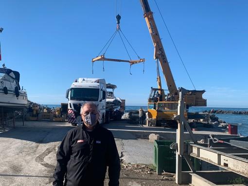 Le prove in mare della nuova avventura transoceanica in gommone di Sergio Davì sono iniziate il mese scorso a Riva Ligure dai Cantieri F.lli Diurno
