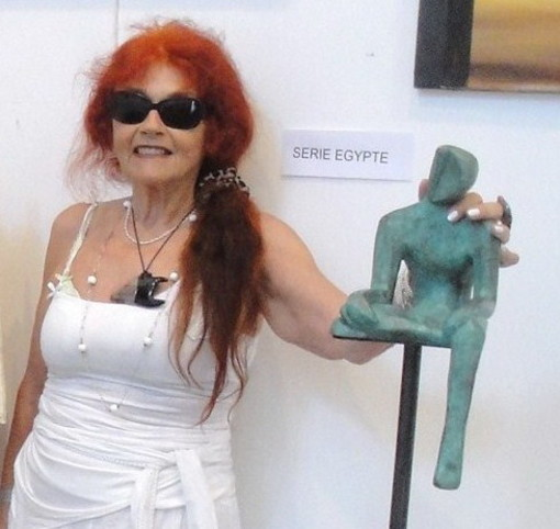 L'artista imperiese Serenella Sossi esporrà le proprie sculture nel weekend all'Art3F di Marsiglia