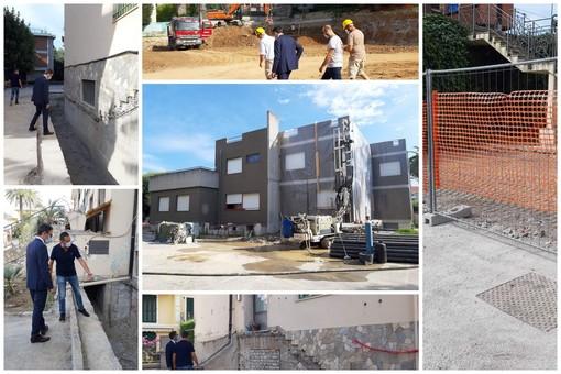 Bordighera: serie di sopralluoghi del Sindaco Ingenito sui cantieri in atto nella città delle palme (Foto)