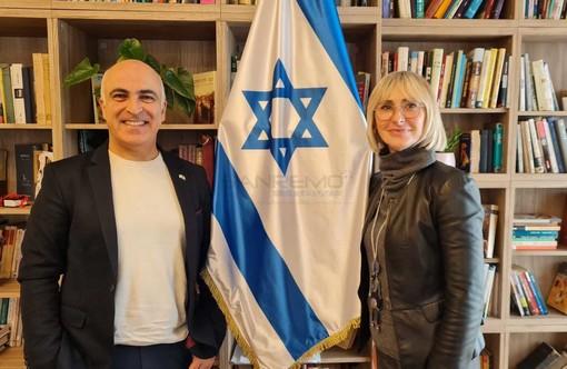 L'assessore alla Cultura, Silvana Ormea, a Roma con l'ambasciatore di Israele, Dror Eydar