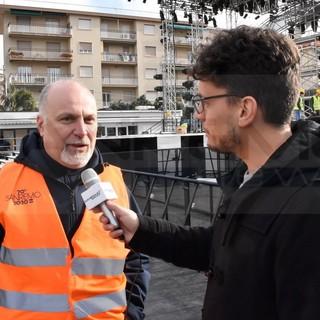 """70° Festival di Sanremo: la 'zona palco' di piazza Colombo è quasi pronta, Russolillo """"Un beneficio per la città e per un brand 'Sanremo' dalle grandi potenzialità"""" (Video)"""