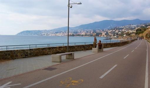 La pista ciclabile a Sanremo