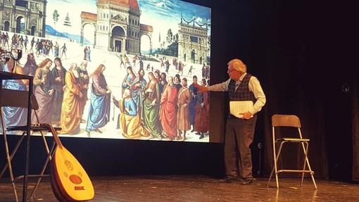 """Ieri lo spettacolo di Vittorio Sgarbi al Teatro Comunale """"Ventimiglia e Bordighera sono state ingiuriate"""" (Foto e Video)"""
