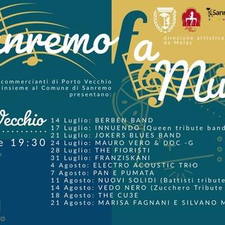 Sanremo: da domani riparte la musica live in centro, appuntamento a porto vecchio con la Berben Band