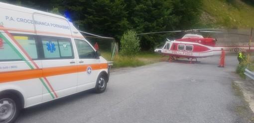 Ventimiglia: biker cade da un sentiero tra Collabassa e Torri e finisce in un dirupo, portato al 'Santa Corona'
