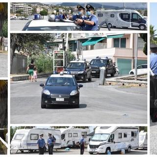 Sanremo: campo rom allestito a Pian di Poma, intervento dei Carabinieri e serie di 'Daspo urbani' in arrivo (Foto e Video)