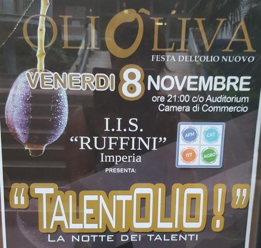 Imperia: da domani scatta 'Olioliva', con gli studenti dell'Istituto 'Ruffini' appuntamento con 'TalentOlio'