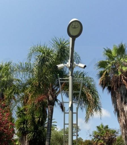 Sanremo: ecco le prime due telecamere delle 120 nuove che saranno installate entro due mesi in città