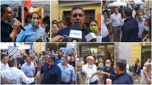 """Regionali 2020, Toti a Imperia per la chiusura della campagna elettorale: """"Centrodestra unito e compatto come questi ultimi cinque anni"""" (Foto e video)"""