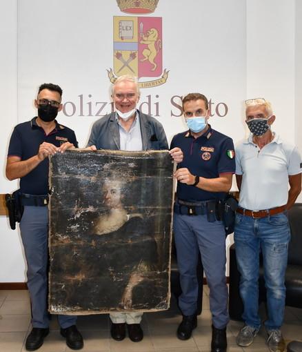 Sanremo: trovata e restituita al Duca Borea D'Olmo la tela del '700 rubata nei giorni scorsi dal palazzo (Foto)