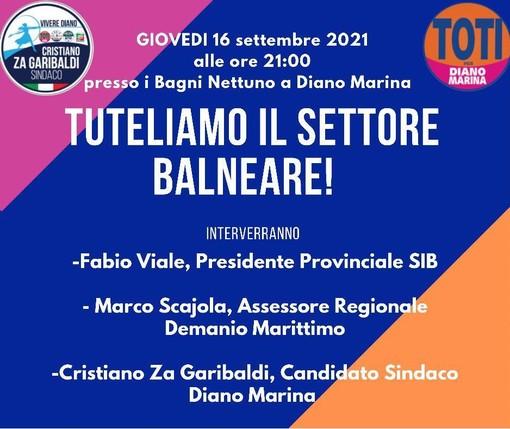 Diano Marina: domani ai bagni Nettuno Za Garibaldi e Marco Scajola incontrano gli operatori del settore balneare