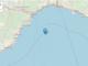 La localizzazione dell'epicentro nel mar Ligure