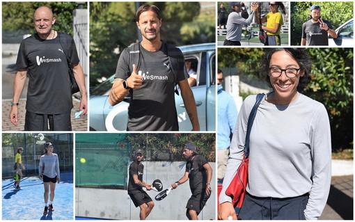 Sanremo: la tennista Francesca Schiavone e tanti ex campioni di calcio oggi nella sfida a Padel (Foto)