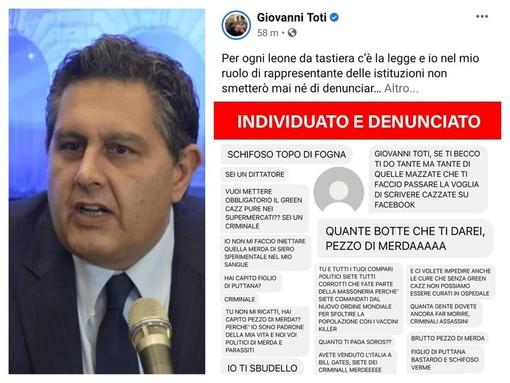 """Minacce di morte a Toti: """"Per ogni leone da tastiera c'è la legge, avanti coi vaccini"""""""