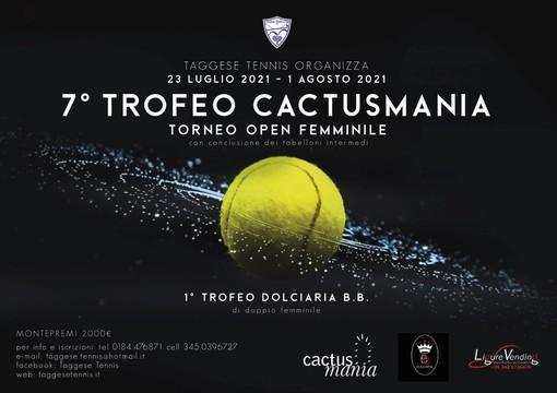 Tennis: al via domani il 7° Trofeo Cactusmania sui campi del circolo Taggese