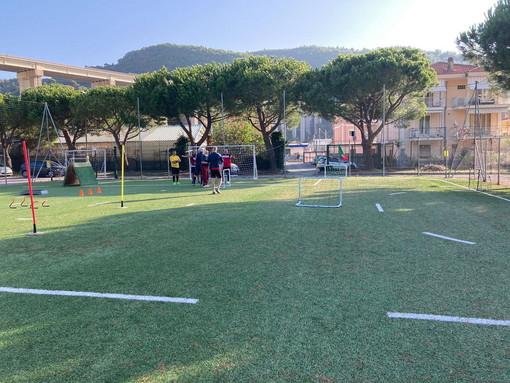 Allenamenti della Scuola Calcio della Polisportiva Vallecrosia Academy allo 'Zaccari'