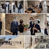 Sanremo: proseguono i lavori a Santa Tecla, ieri sopralluogo del Sindaco con l'Ambasciatore a Monaco (Foto e Video)