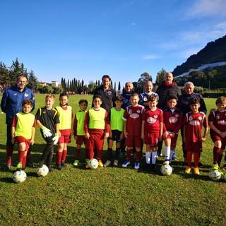 Visita a sorpresa di Diego Fuser alla Polisportiva Dilettantistica Vallecrosia Academy
