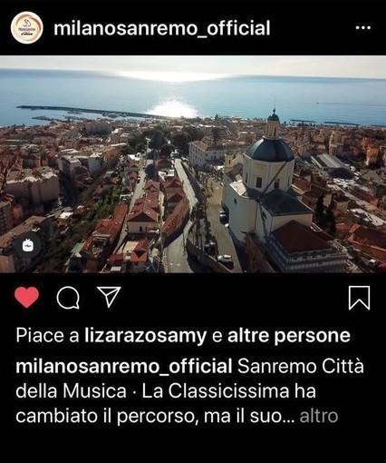 Anche sul profilo Instagram ufficiale della Milano-Sanremo gira il promo della Città dei Fiori