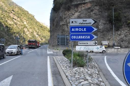 Rimarrà aperta la statale 20 tra Trucco e Airole: i lavori sulla linea elettrica verranno svolti ugualmente