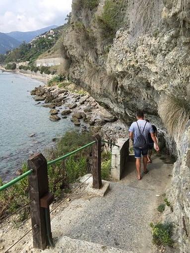 Ventimiglia: assegnati dal Comune i lavori per ripristino e messa in sicurezza del sentiero verso le Calandre (Foto)