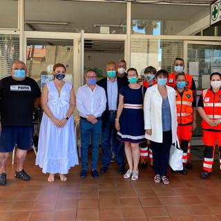 Taggia: l'assessore alla Sanità di Regione Liguria, Sonia Viale, visita l'ambulatorio turistico nella sede della Croce Verde