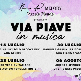 Sanremo: un calendario di concerti anima l'estate in via Piave, si parte giovedì con Edoardo Cinalski