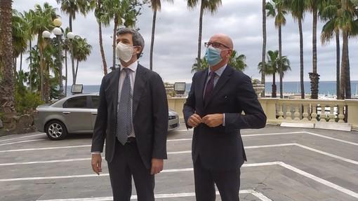 Il Ministro Orlando a Imperia per parlare dell'accordo con Monaco e dei problemi del lavoro in provincia (Foto e Video)