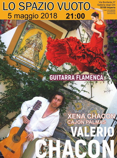 Imperia: il prossimo 5 maggio allo 'Spazio Vuoto' spettacolo di chitarra e flamenco con Valerio Chacon