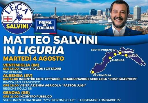 Ventimiglia: comizio in via Aprosio alle 15 martedì prossimo per il via alla campagna elettorale della Lega con Salvini