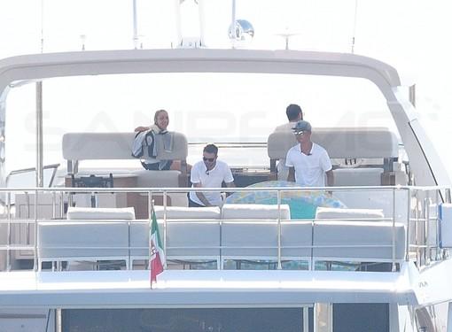 Sanremo: giornata matuziana per Cristiano Ronaldo e Georgina, dopo la gita in barca un blitz da The Mall e poi via in Costa Azzurra