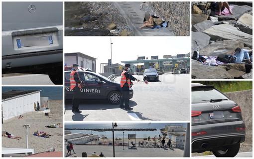 Sanremo: negozi chiusi per la zona rossa ma tanta gente in giro e sulle spiagge, molte le auto in arrivo al casello