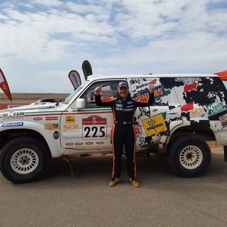 Il pilota dianese Luciano Carcheri settimo alla Dakar Classic con la squadra corse Angelo Caffi