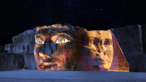 Un'inedita e colossale Aida: il 20 luglio spettacolo immersivo con proiezioni su pareti di roccia alte 30 metri