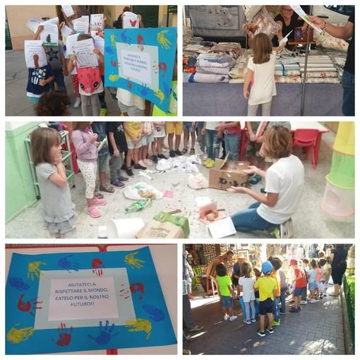 Manifestare per l'ambiente non ha età: oggi in piazza anche i bambini dell'asilo di Santo Stefano al Mare
