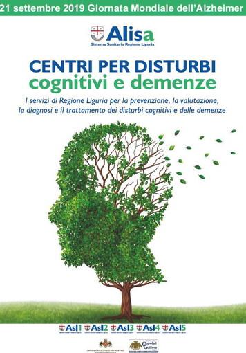 Domani, Giornata Mondiale Alzheimer. Le iniziative di Asl 1 Imperiese
